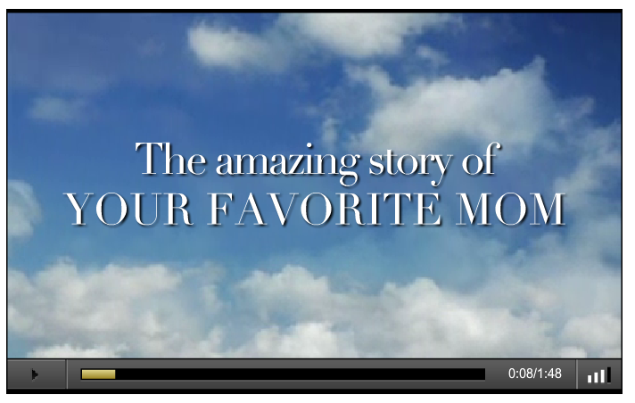 Check out this video & make your favorite moms superstars in their own movie!