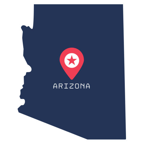 [IMAGE DESCRIPTION: A graphic image of the state of Arizona.]