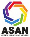 [IMAGE DESCRIPTION: A rainbow colored graphic logo for the Autistic Self Advocacy Network]