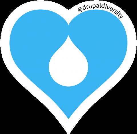 Drupal Diversity & Inclusion Heart logo