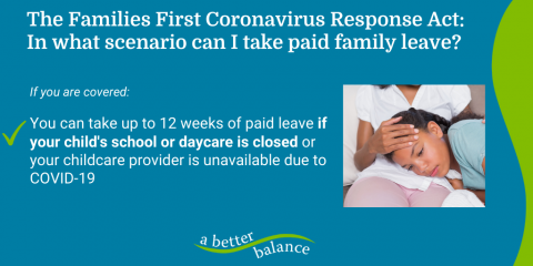 [IMAGE DESCRIPTION: A graphic image describing a paid leave option covered in the Families First Coronavirus Act.]