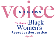 [IMAGE DESCRIPTION: A text logo for In Our Own Voice: National Black Women's Reproductive Justice]