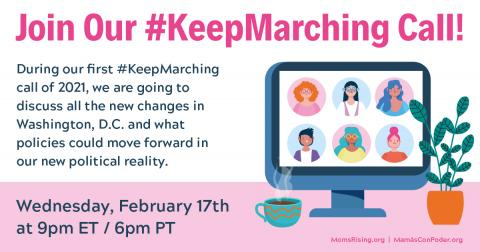 Keep Marching call, Feb. 2021