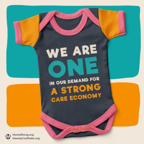 Strong Care Square onesie for Care Economy Storybook