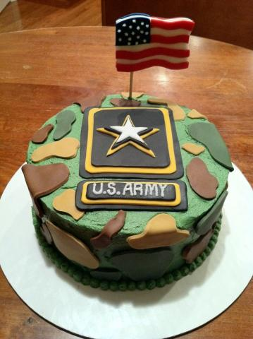 Marvelous Militarymonday Army Birthday More Than Just Cake Momsrising Personalised Birthday Cards Rectzonderlifede