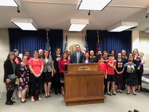 NC Families First Act bill introduction press conference