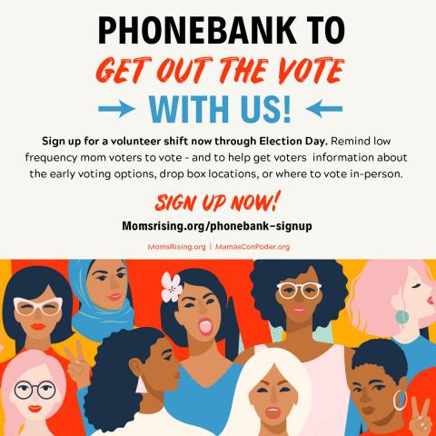 [IMAGE DESCRIPTION: A graphic image encouraging everyone to phonebank before Nov. 3 to help get out the vote.]