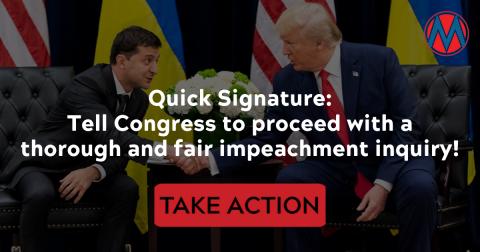 call your senators to demand impeachment inquiry