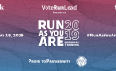 "[IMAGE DESCRIPTION: A graphic image with a blue and red ombre background and text that reads in part ""Run As You Are 2019 National Training.""]"