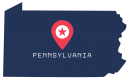 [IMAGE DESCRIPTION: A graphic image of the state of Pennsylvania.]