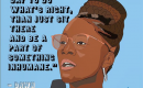 Illustration of Dawn Wooten, the whistleblower in the complaint against ICE alleging it allowed mass hysterectomies to be performed on immigrants