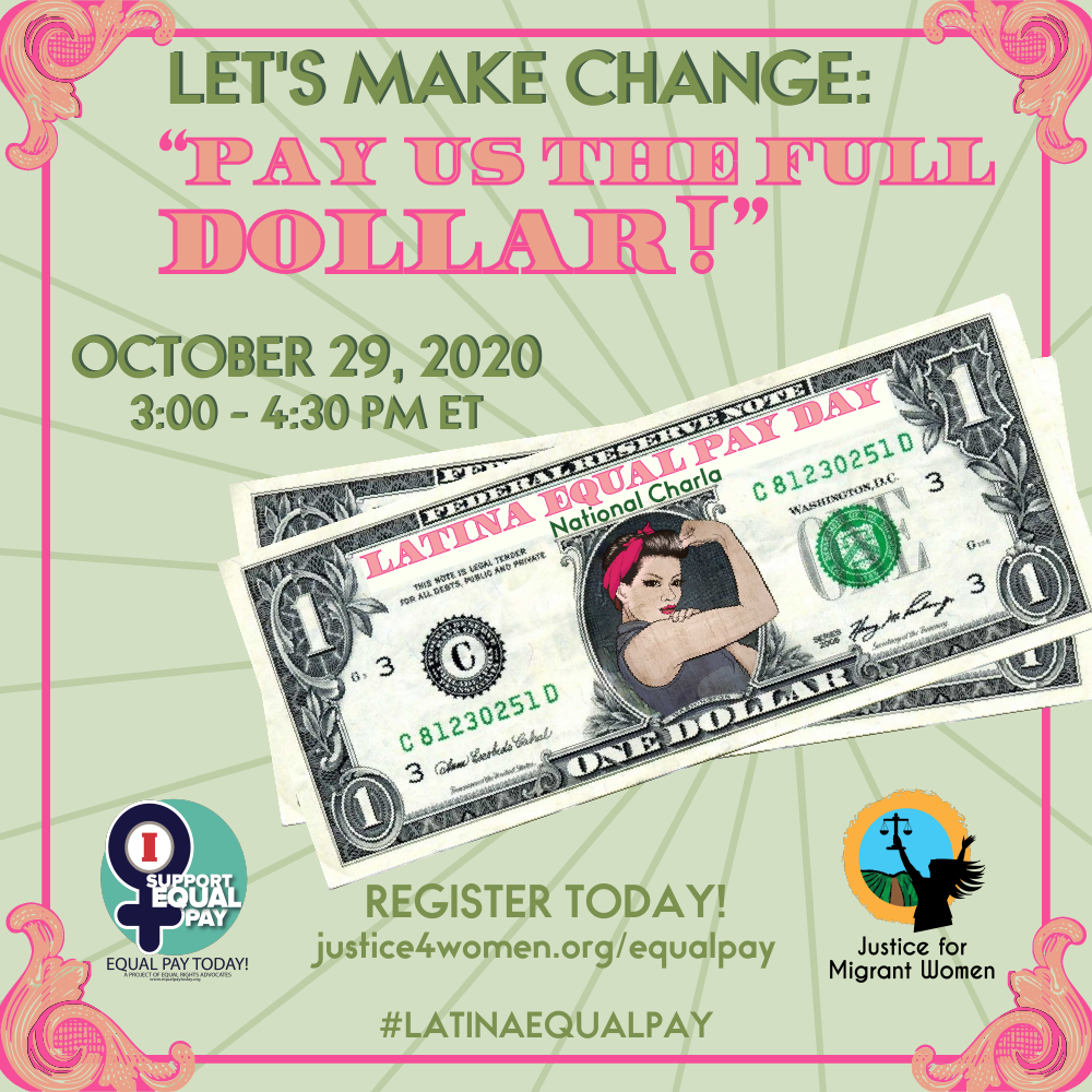 Latina Equal Pay Day graphic