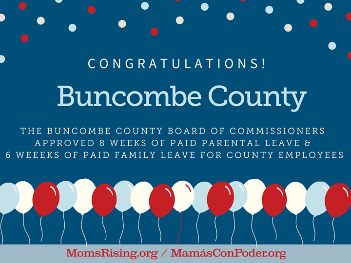 Buncombe County Paid Leave Congratulations graphic