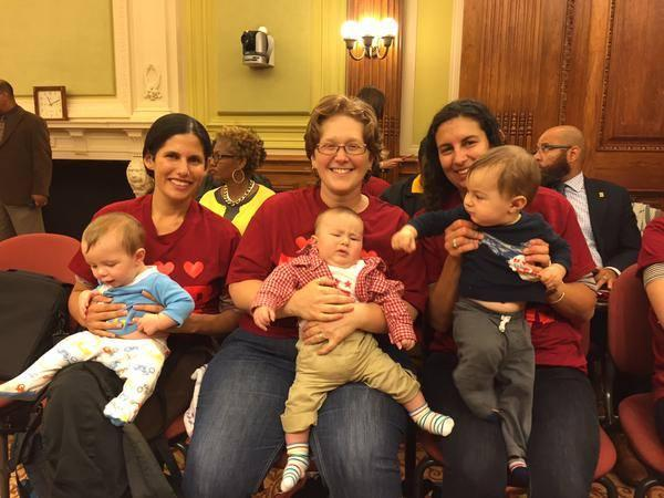 MomsRising members (including kids!) speak out for DC paid family leave.