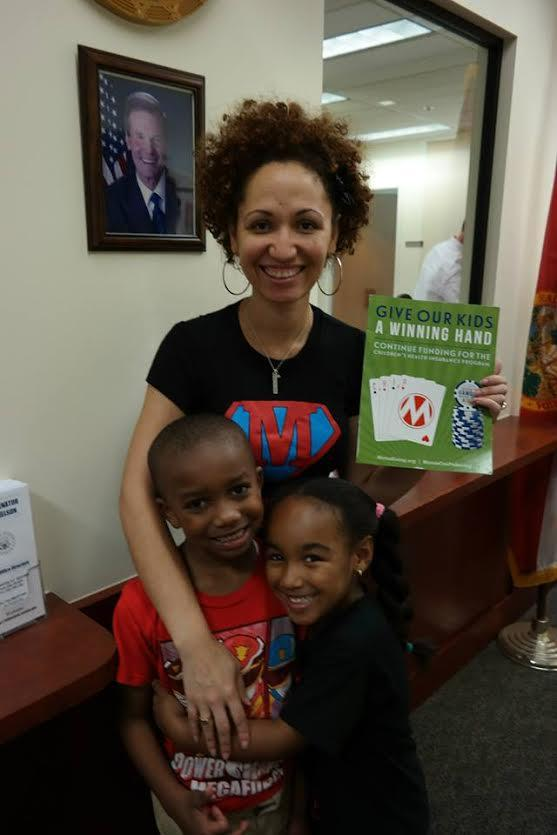 CHIP stories delivered to Congressman's office