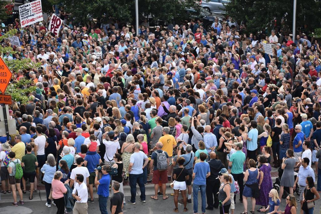 Large crowd at Durham vigil. Photo by Bobbiette Chinyere