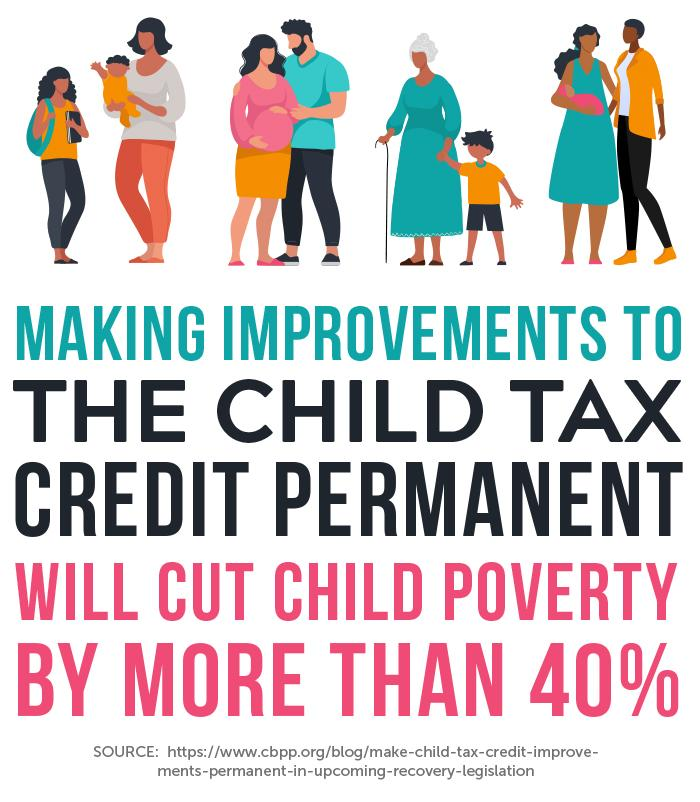 Child Tax Credit graphic from Care Economy Storybook