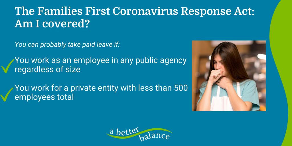 [IMAGE DESCRIPTION: A graphic image about the Families First Coronavirus Response Act.]