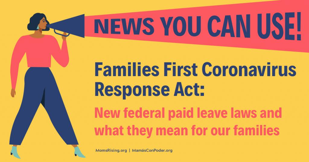 "[IMAGE DESCRIPTION: A colorful graphic that says ""Families First Coronavirus Response Act""]"