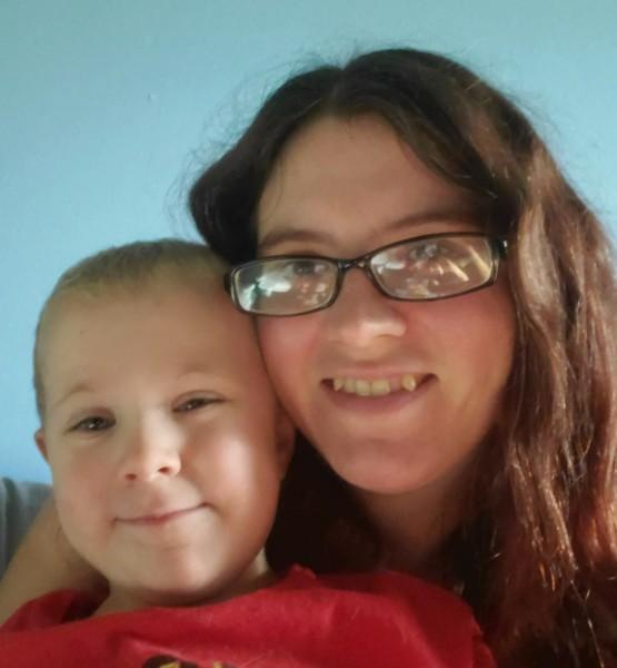 Katrina and her son take a selfie.