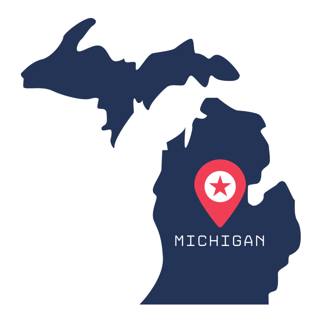 [IMAGE DESCRIPTION: A graphic image of the state of Michigan.]