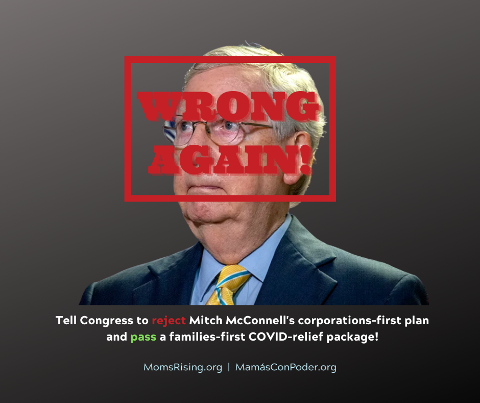 "[IMAGE DESCRIPTION: A photo of Sen. Mitch McConnell with ""WRONG AGAIN"" stamped in red across his image.]"