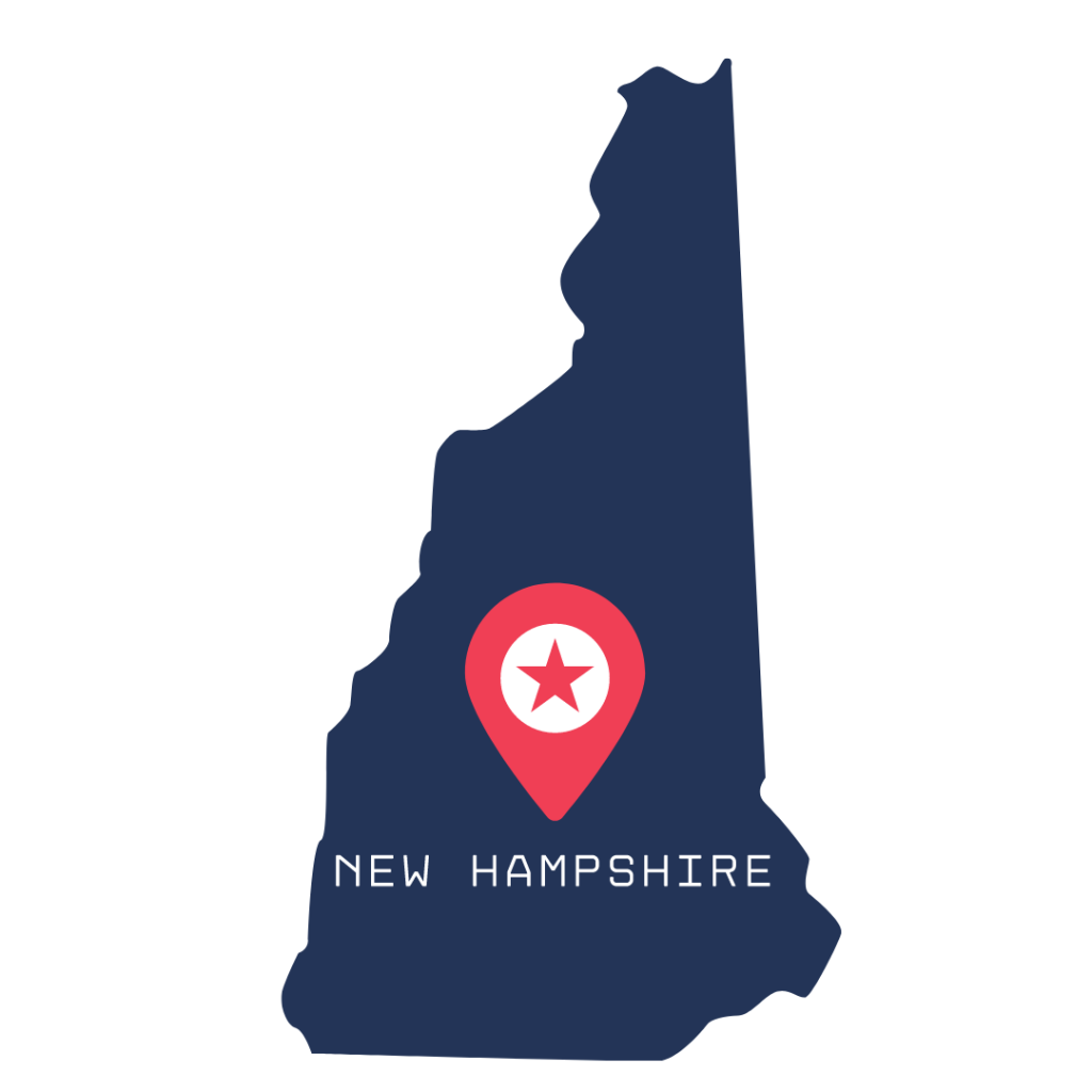 [IMAGE DESCRIPTION: A graphic image of the state of New Hampshire.]