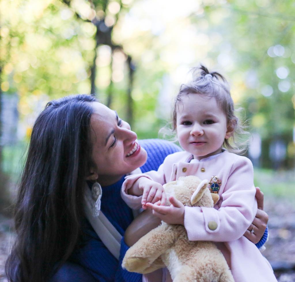 Nina Perez and child.