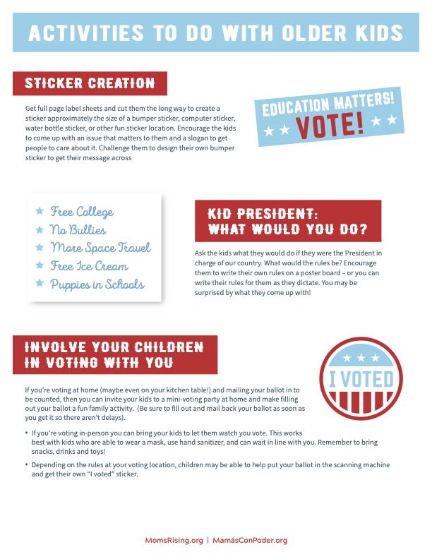 Older Kids Voting Activities