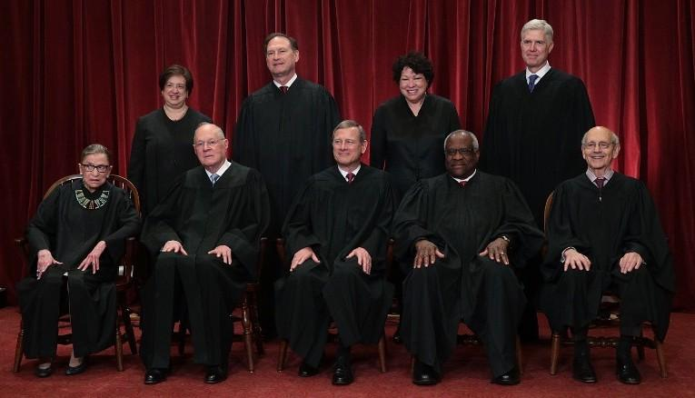 Class photo of the 2017 Supreme Court of the United States