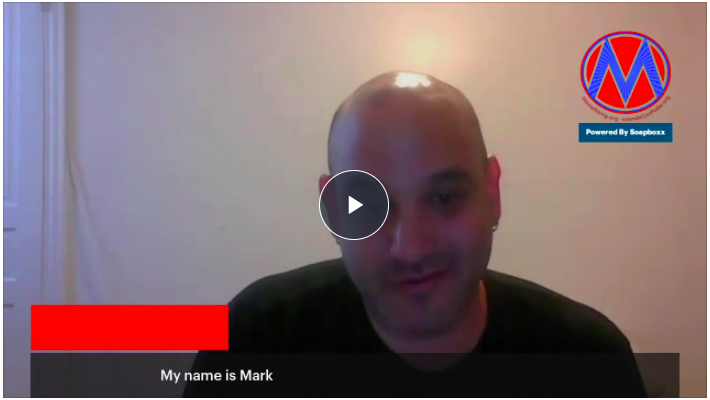 [IMAGE DESCRIPTION: A screenshot of a video of a man about to tell his healthcare story.]