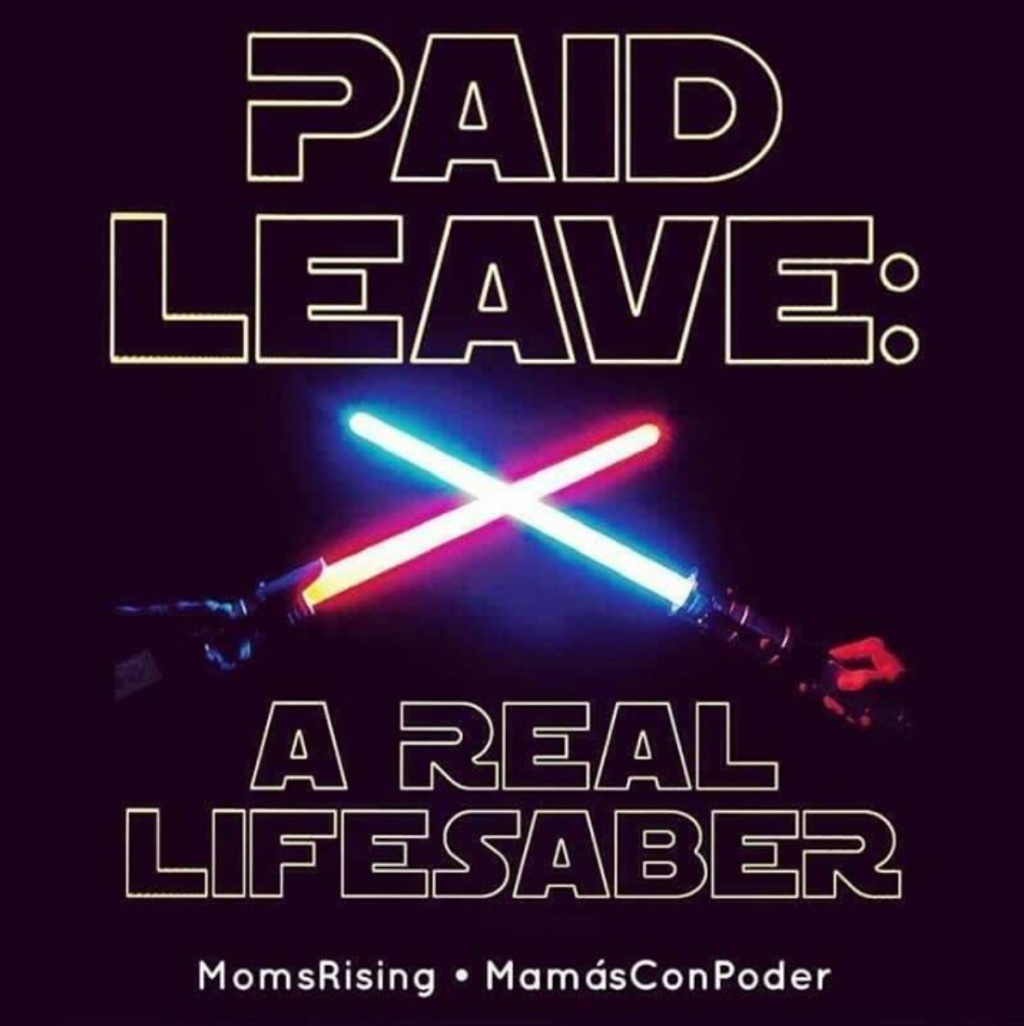May the Fourth Instagram post supporting Paid Leave for All