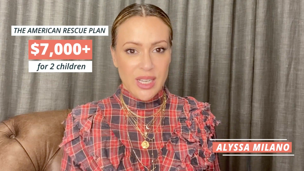 Video still of How to Get Your Child Tax Credit with America Ferrara and Alyssa Milano