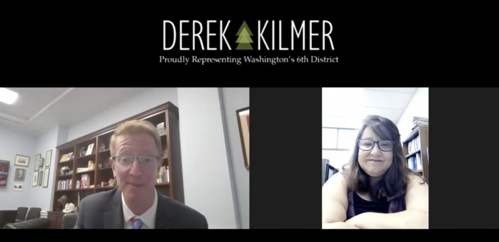 Virtual Screenshot from Natasha and Rep. Kilmer's Video