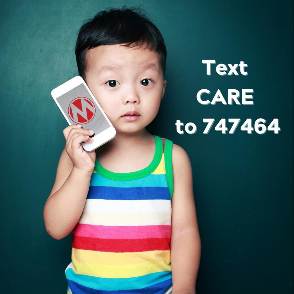 Text CARE to 747464