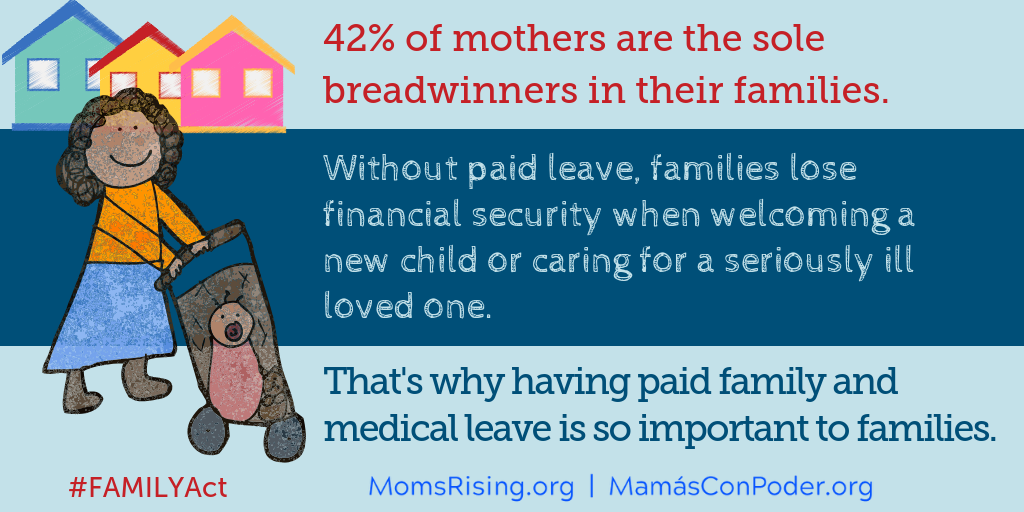 statistic on moms and need for paid family leave
