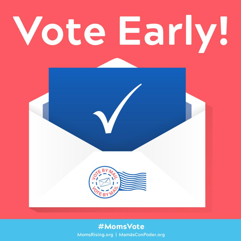 "[IMAGE DESCRIPTION: A graphic image that says ""Vote Early.""]"