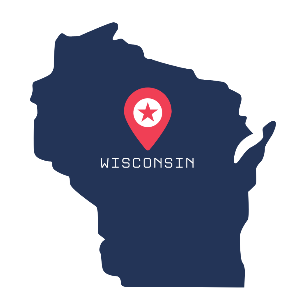 [IMAGE DESCRIPTION: A graphic image of the state of WIsconsin.]