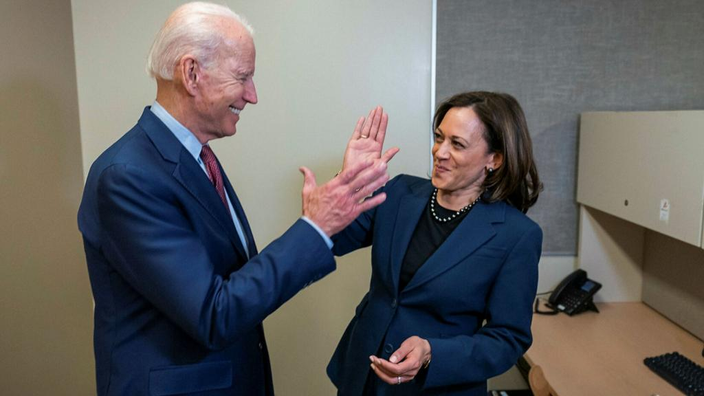 Joe Biden and Kamala Harris High-Five