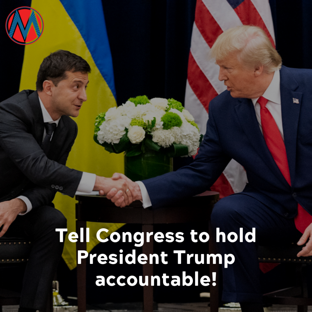 Pres Trump shaking hands with Pres Zelensky