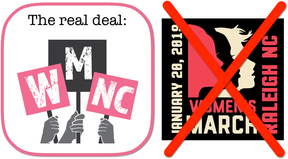 real march logo and fake march logo