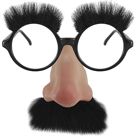 Groucho Marx glasses with fake nose and eyebrows