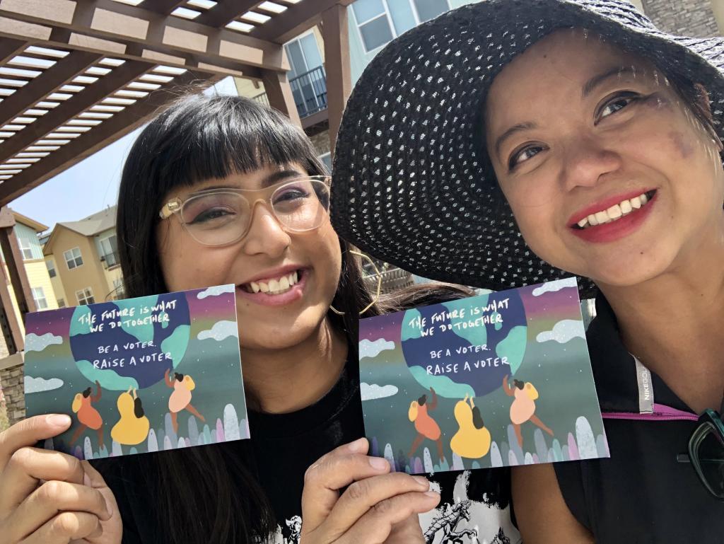 Photo of MomsVote volunteers 2020