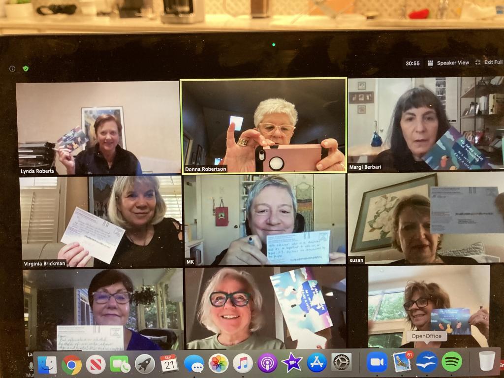 Photo of MomsVote volunteers 2020 on zoom