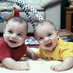 Author's twin boys who were fortunate to receive good medical care after pre-term delivery.