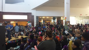 An estimated 1600 people turned out to celebrate MLK Day with MomsRising in Durham, NC.